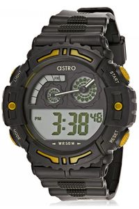 Astro Kids Black Plastic Watch - A8907-PPBBY, black, black/yellow, black