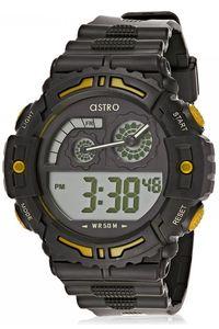 Astro Kids Black Plastic Watch - A8907-PPBBY, black/yellow, black, black