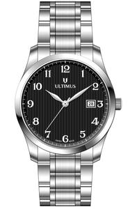 Women's Stainless Steel Band Watch- U7502, black, silver, silver