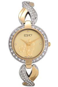 Women's Stainless Steel Band Watch -E6514, champagne, tt gold, tt gold