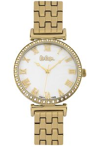 Women's Super Metal Band Watch - LC06562, mop white, gold, gold