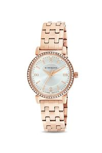 Giordano Women's Watch Analog Display- 2904-22, rose gold, silver