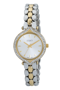 Ecstacy Women's Stainless Steel Band Watch E7517-TBTS, tt gold, gold, silver