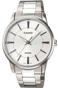 Men's Stainless Steel Band Watch - MTP-1303S, silver, silver, silver