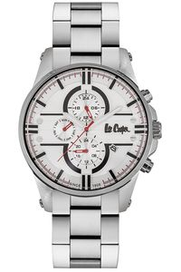 Men's Super Metal Band Watch -LC06535, silver, silver, white