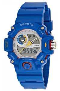 Kids Resin Band Watch - A8903, white, blue, blue