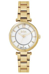 Women 's Super Metal Band Watch - LC06265, gold, gold, white