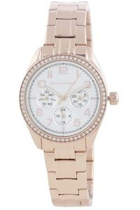 Women's Stainless Steel Band Watch - 2880, silver, rose gold, rose gold