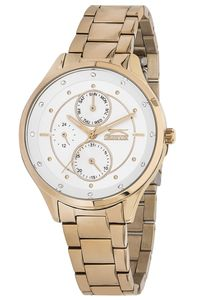 Women's Stainless Steel Band Watch - SL. 9.6084, white, rose gold, rose gold