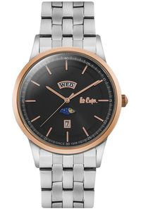 Men's Super Metal Band Watch -LC06551, silver, silver, black