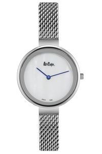 Women's Super Metal Band Watch -LC06632, white, silver, silver