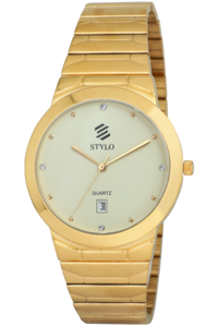 Men's Stainless Steel Band Watch -S7022, ip gold, ivory, ip gold