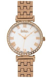 Women's Super Metal Band Watch - LC06562, gold, gold, mop white