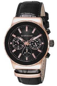 Giordano Men's Watch Multi Function Display- 1779-03, black, black