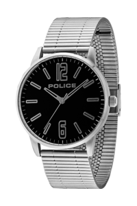 Men's Stainless Steel Band Watch - P 14765, black, silver, silver