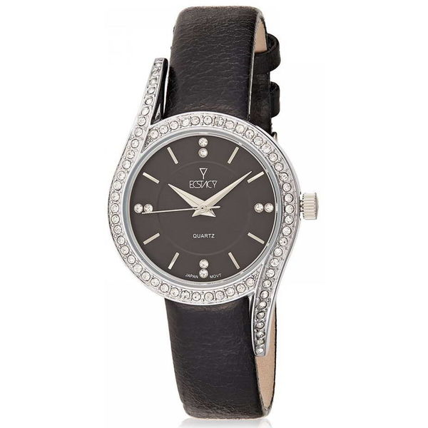 Ecstacy Women s Leather Band Watch E8504-SLBB