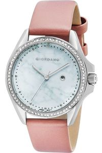 Giordano Women's Watch Analog Display- 2930-01, pink, mop white