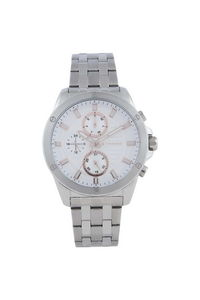 Giordano Men's Watch Multi Function Display- 1885-11, silver, white