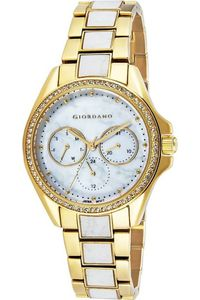 Giordano Women's Watch Multi Function Display- 2936-33, two tone white, mop white
