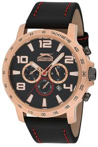 Men's Leather Band Watch - SL. 9.6009, brown, black, brown