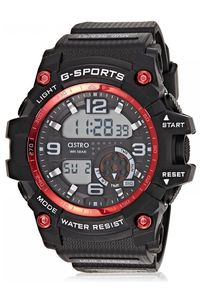 Astro Kids Black/Red Plastic Watch - A8905-PPBBR, black, black, black/red