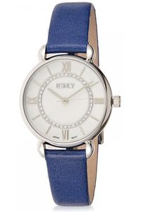 Women's Leather Band Watch -E8505, silver, silver, blue