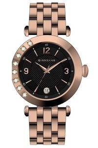 Women's Solid 316L Stainless Steel Band Watch -2775, rose gold, black, rose gold