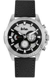 Men's Resin Band Watch - LC06531, black, silver, white