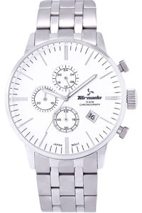 Tornado Men's Solid Stainless Steel Band White Dial Watch, solid stainless steel, men