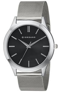 Giordano Men's Watch Analog Display- 1831-11, silver, black