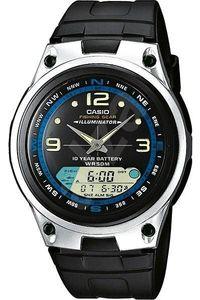 Men's Resin Band Watch - AW-82, black, silver, black