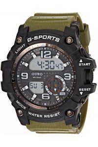 Astro Kids Green Plastic Watch - A8905-PPHB, green, black, black