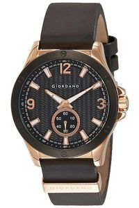 Giordano Men's Watch Chronograph Display- 1765-01, black, black