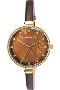 Giordano Women's Watch Analog Display- 2934-02, brown, brown