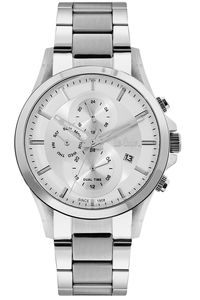 Men's Super Metal Band Watch - LC06555, silver, silver, silver
