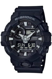 G-shock Men's Resin Band Watch GA-700-1B, black, black, black