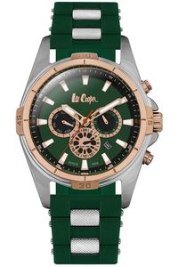 Men's Resin Band Watch -LC06443, green, silver, green