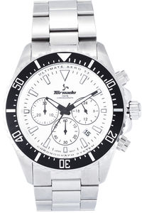 Men's Solid Stainless Steel Band Watch- T6108, silver, silver, silver