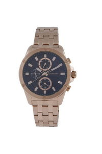 Giordano Men's Watch Multi Function Display- 1885-44, black, rose gold