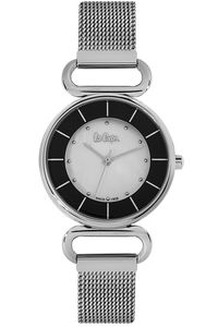 Women's Super Metal Band Watch - LC06476, silver, silver, silver/black