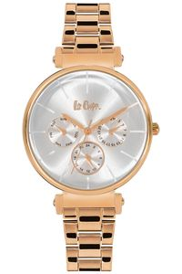 Women's Super Metal Band Watch - LC06335, white, rose gold, rose gold