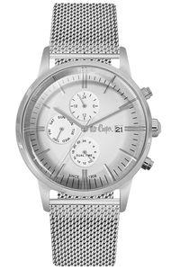 Men's Super Metal Band Watch - LC06269, white, silver, silver