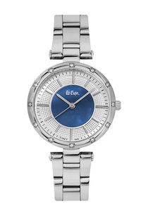Women's Super Metal Band Watch -LC06474, silver, silver, blue