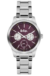 Women's Super Metal Band Watch - LC06202, silver, silver, claret red
