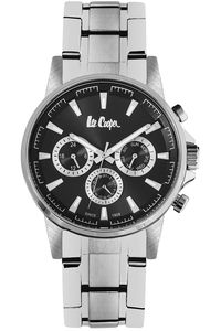 Men's Super Metal Band Watch -LC06516, black, silver, silver
