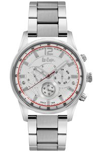 Men's Super Metal Band Watch - LC06552, silver, silver, silver