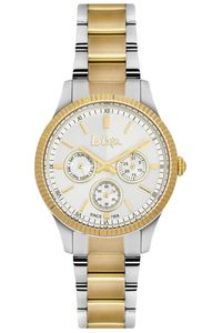 Women's Super Metal Band Watch - LC06212, two tone, silver, silver