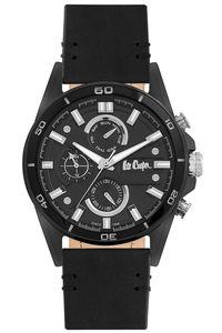 Men's Super Metal Band Watch -LC06514, black, silver, black