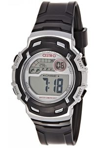 Astro Kids Black Plastic Watch - A8902-PPBS, black, black/silver, silver