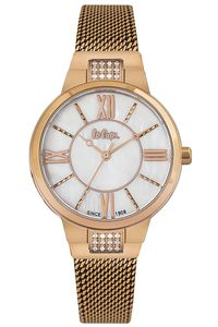 Women's Super Metal Band Watch -LC06646, rose gold, rose gold, mop white